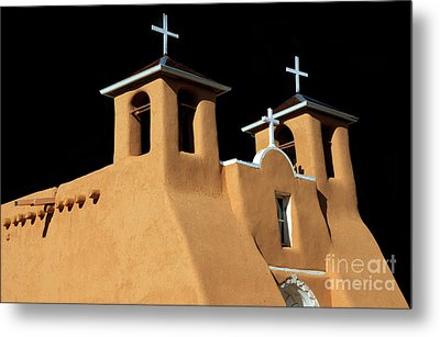 Metal Print featuring the photograph St Francis De Assi Church  New Mexico by Bob Christopher