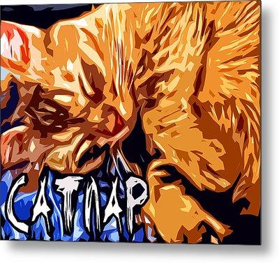 Catnap Metal Print by David G Paul