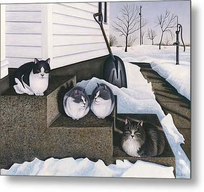 Cats - Jake's Mousers Metal Print