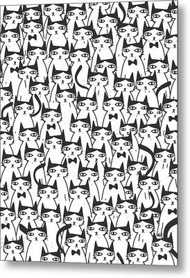 Cats Metal Print by Uma Gokhale