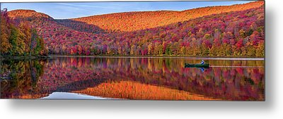 Metal Print featuring the photograph Catskills Panorama 1 by Mark Papke