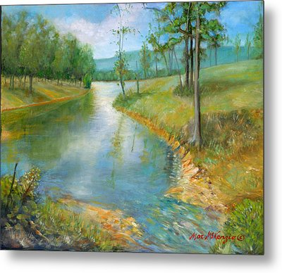 Cattle Cooling Pond Metal Print by Max Mckenzie