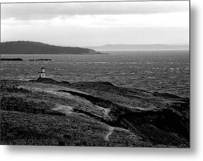 Cattle Point Lighthouse Metal Print