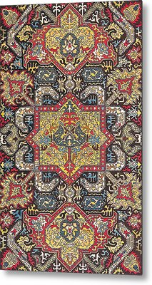 Caucasian Silk Embroidery Metal Print by Unknown