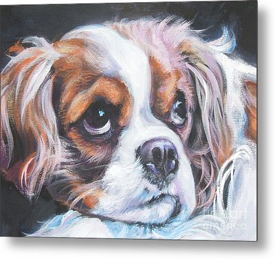 Cavalier King Charles Spaniel Blenheim Metal Print by Lee Ann Shepard