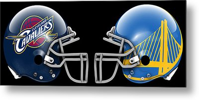 Cavaliers Warriors What If Its Football Metal Print by Joe Hamilton