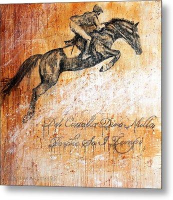 Cavallo Contemporary Horse Art Metal Print by Jennifer Godshalk