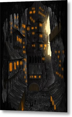 Cave Dwellings 1 - By Diana Van Metal Print