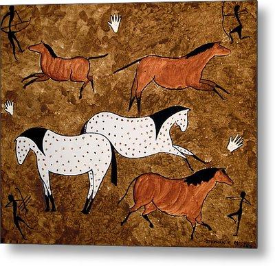 Cave Horses Metal Print