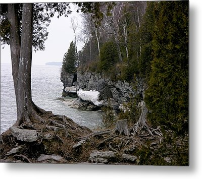Cave Point Wisconsin Metal Print by Keith Stokes