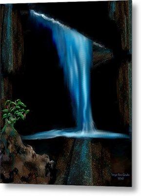 Cave Waterfall Metal Print by Tanya Van Gorder