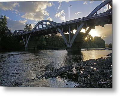 Caveman Bridge At Sunset Metal Print