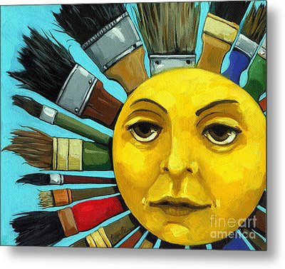 Cbs Sunday Morning Sun Art Metal Print by Linda Apple