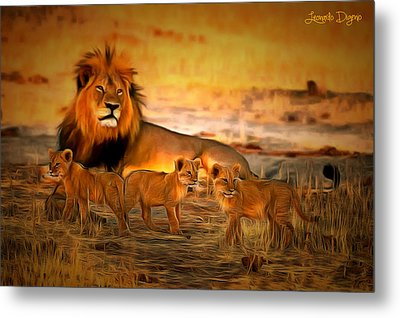 Cecil And Babies Metal Print by Leonardo Digenio