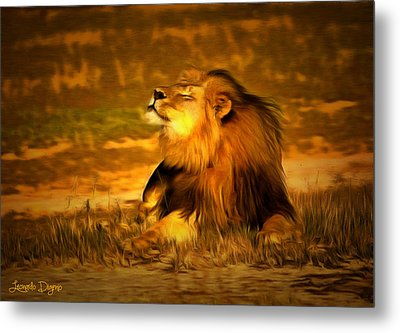 Cecil At Sun Metal Print by Leonardo Digenio