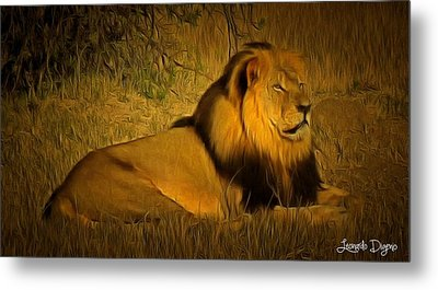 Cecil The Lion - Da Metal Print by Leonardo Digenio