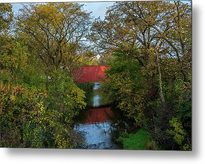 Cedar Bridge Metal Print