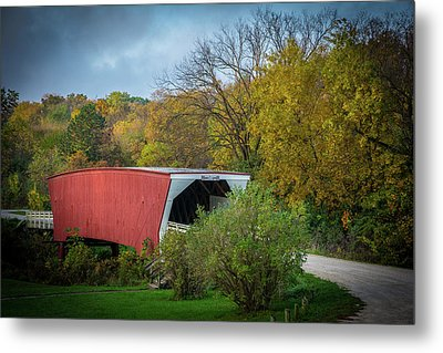 Cedar Covered Bridge Metal Print