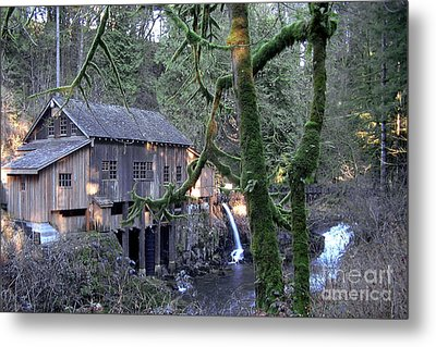 Metal Print featuring the photograph Cedar Creek Grist Mill by Larry Keahey
