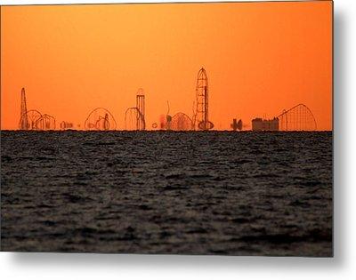Cedar Point Skyline Metal Print