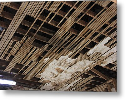 Ceiling Laths Metal Print by Jeff Roney