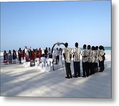 Celebrate Marriage In Kenya Metal Print by Exploramum Exploramum