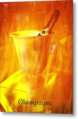 Celebrate With Champagne Metal Print by Richard Reeve