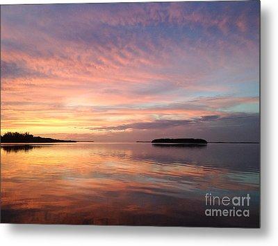 Celebrating Sunset In Key Largo Metal Print