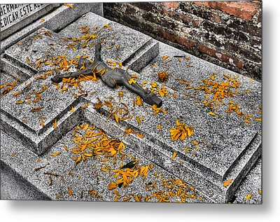 Celebrating The Day Of The Dead Metal Print by Jim Walls PhotoArtist