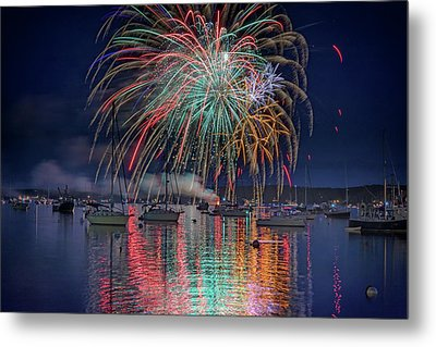 Celebration In Boothbay Harbor Metal Print