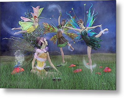 Celebration Of Night Alice And Oz Metal Print by Betsy Knapp