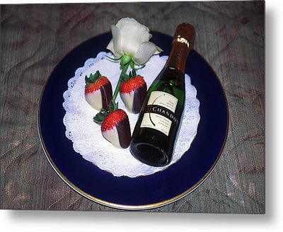 Metal Print featuring the photograph Celebration Plate by Sally Weigand