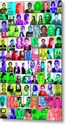 Celebrity Mugshots Metal Print