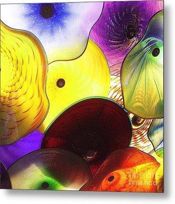 Celestial Glass 1 Metal Print by Xueling Zou