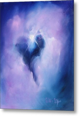Celestial Heart Metal Print by Sally Seago