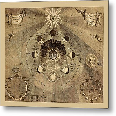 Celestial Map 1710b Metal Print by Andrew Fare