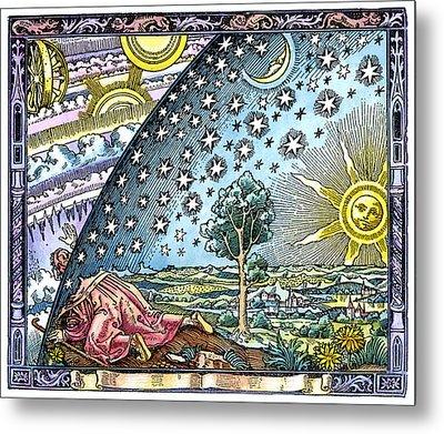 Celestial Mechanics, Medieval Artwork Metal Print by Detlev Van Ravenswaay