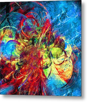 Celestial Moons Abstract Metal Print