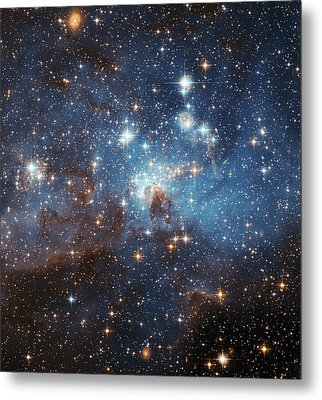 Metal Print featuring the photograph Celestial Season's Greetings From Hubble by Nasa