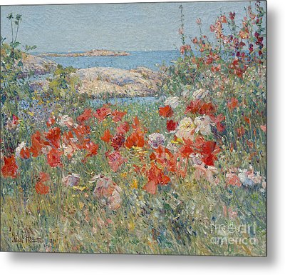 Celia Thaxter's Garden, Isles Of Shoals, Maine, 1890 Metal Print by Childe Hassam
