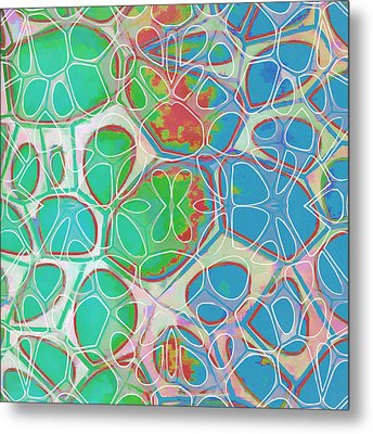 Cell Abstract 10 Metal Print by Edward Fielding