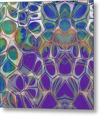 Cell Abstract 17 Metal Print