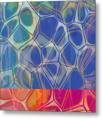 Cell Abstract One Metal Print by Edward Fielding