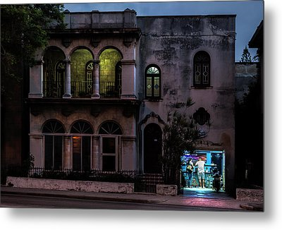 Metal Print featuring the photograph Cell Phone Shop Havana Cuba by Charles Harden