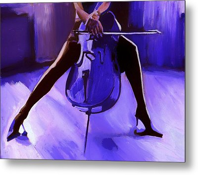 Cello Metal Print by Vel Verrept