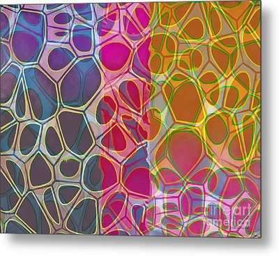 Cells 10 Abstract Painting Metal Print by Edward Fielding