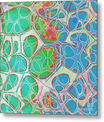 Cells 11 - Abstract Painting  Metal Print by Edward Fielding