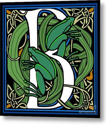 Celt Frogs Letter B Metal Print