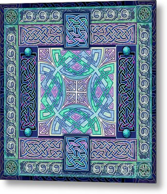 Metal Print featuring the mixed media Celtic Atlantis Opal by Kristen Fox