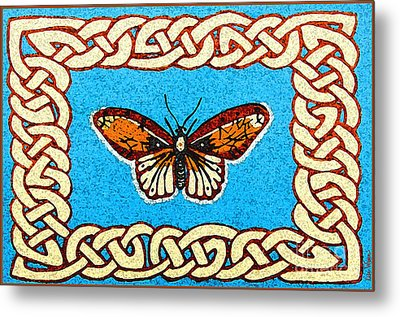 Celtic Butterfly Metal Print